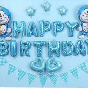 Bộ trang trí sinh nhật cho bé tại nhà tone xanh